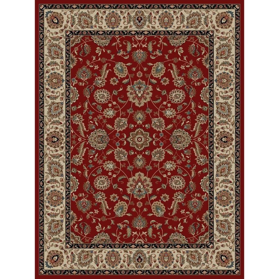 Concord Global Kensington Red Rectangular Indoor Woven Oriental Area Rug (Common: 8 x 11; Actual: 94-in W x 126-in L x 7.83-ft Dia)
