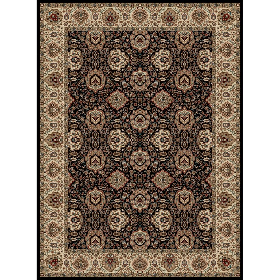 Concord Global Kensington Black Rectangular Indoor Woven Oriental Area Rug (Common: 9 x 12; Actual: 111-in W x 150-in L x 9.25-ft Dia)