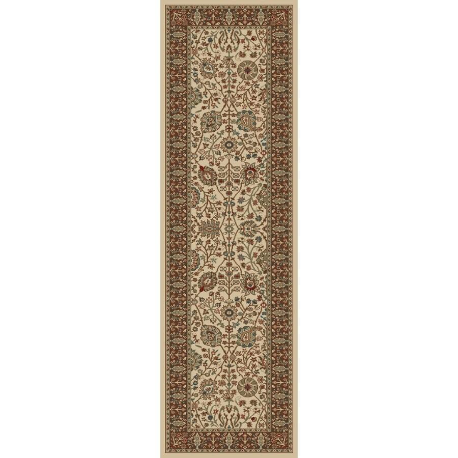 Concord Global Kensington Ivory Rectangular Indoor Woven Oriental Runner (Common: 2 x 7; Actual: 26-in W x 87-in L x 2.17-ft Dia)