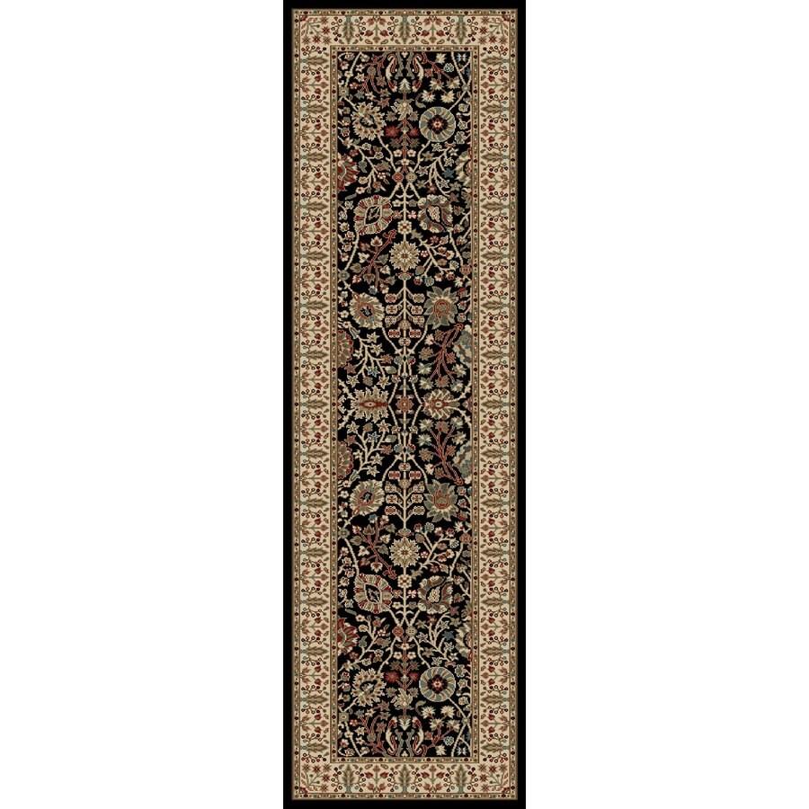 Concord Global Kensington Black Rectangular Indoor Woven Oriental Runner (Common: 2 x 7; Actual: 26-in W x 87-in L x 2.17-ft Dia)