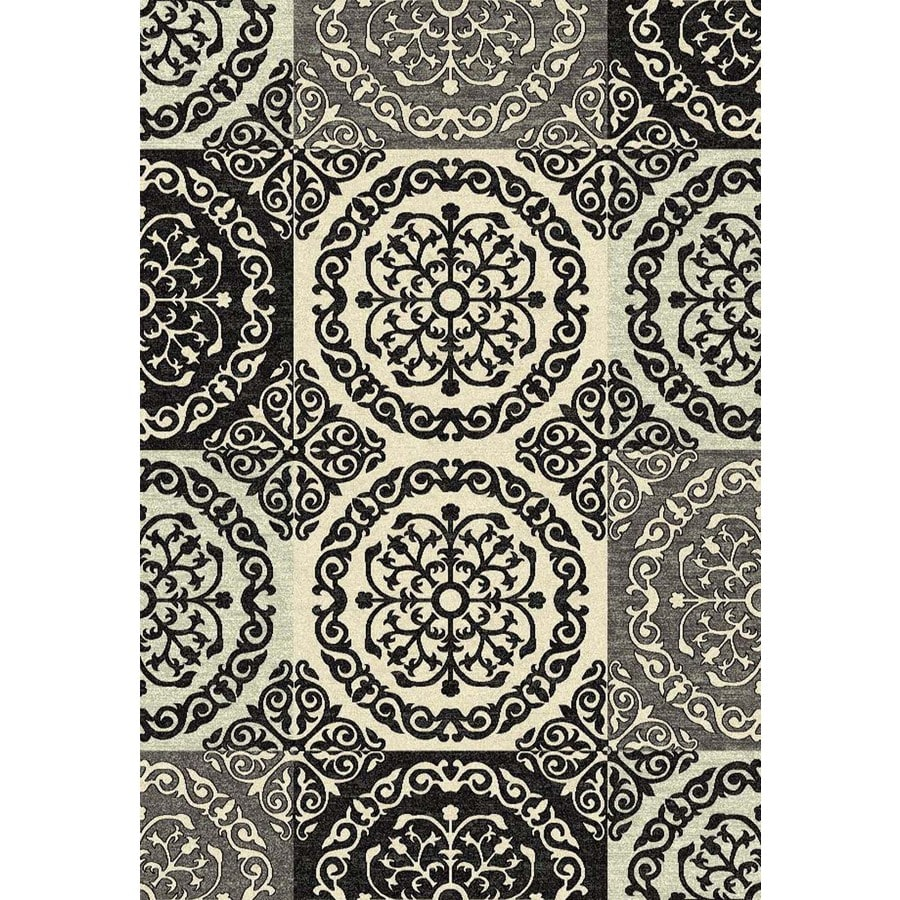 Concord Global Winston Ivory Rectangular Indoor Woven Area Rug (Common: 5 x 7; Actual: 63-in W x 87-in L x 5.25-ft Dia)
