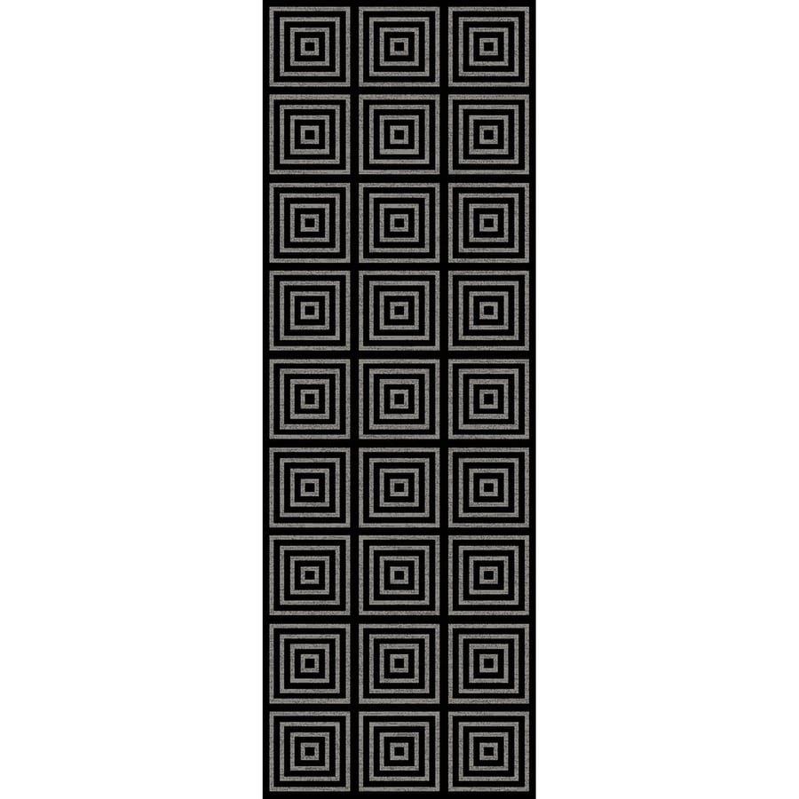 Concord Global Glam Black Rectangular Indoor Woven Runner (Common: 2 x 8; Actual: 26-in W x 91-in L x 2.17-ft Dia)