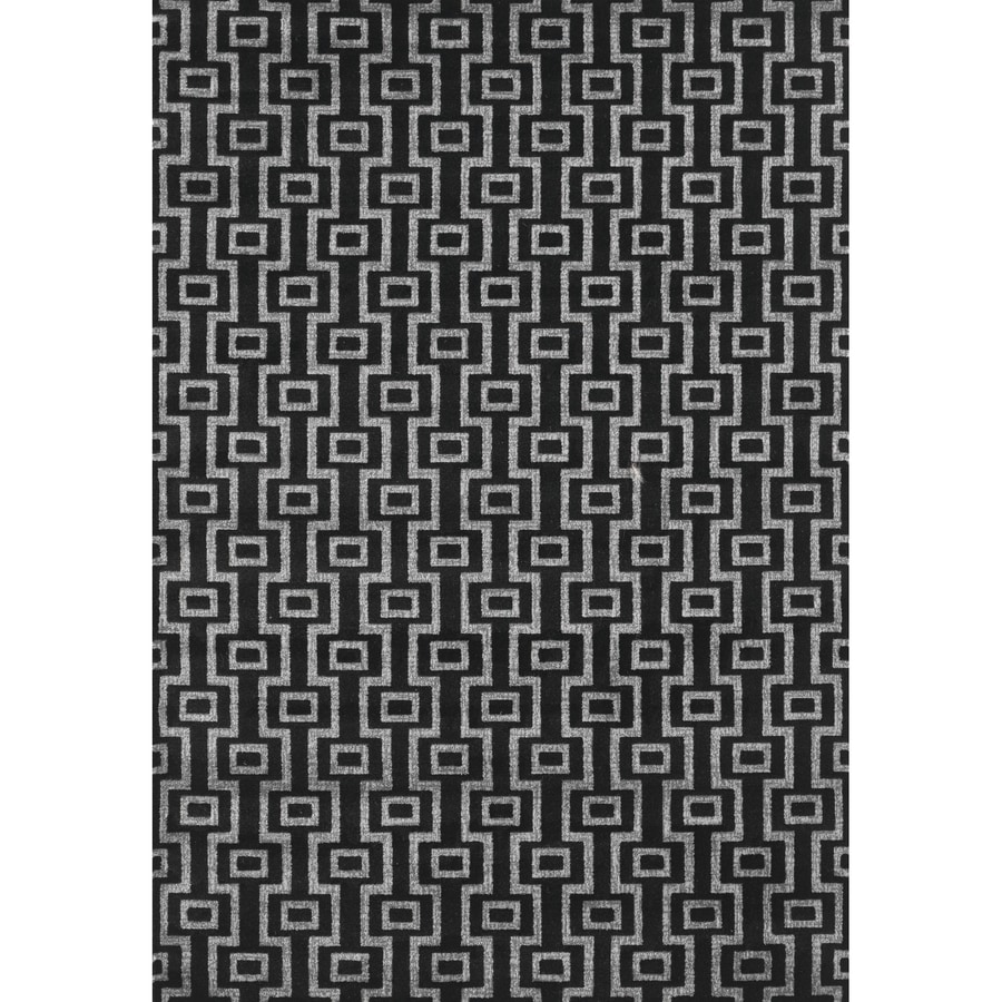 Concord Global Glam Black Rectangular Indoor Woven Area Rug (Common: 8 x 11; Actual: 105-in W x 126-in L x 8.75-ft Dia)