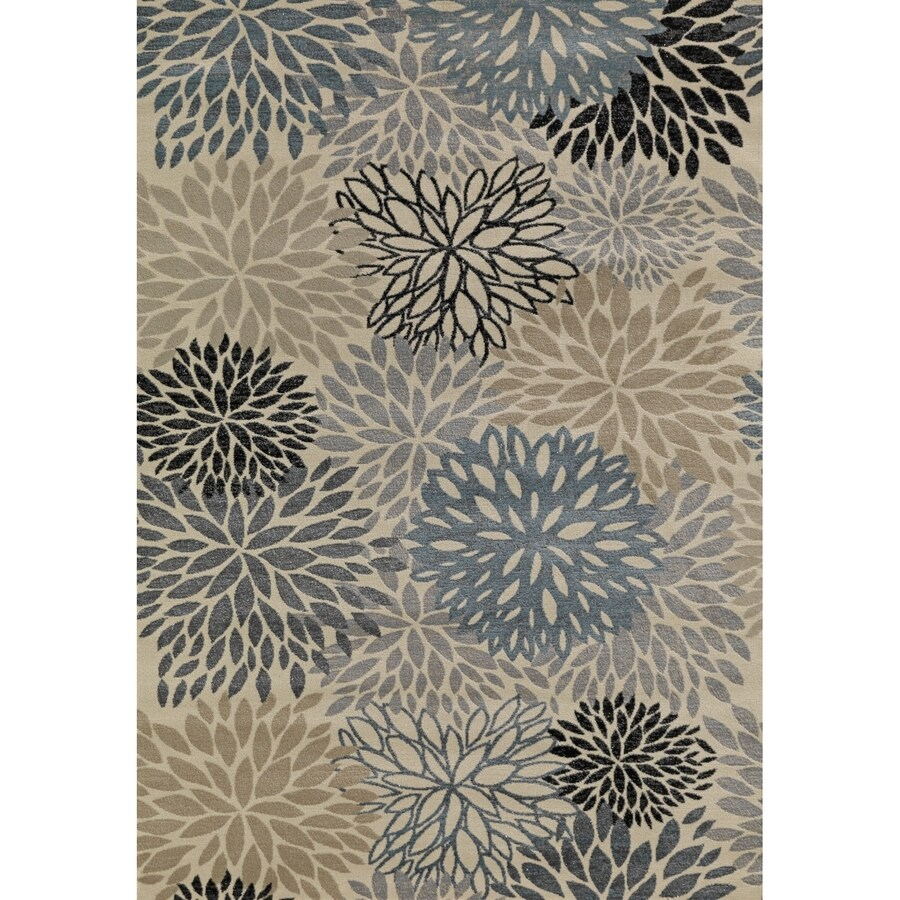 Concord Global Glam Multicolorcolor Rectangular Indoor Woven Nature Area Rug (Common: 3 x 5; Actual: 39-in W x 55-in L x 3.25-ft Dia)