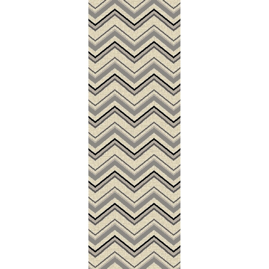 Concord Global Glam Ivory Rectangular Indoor Woven Runner (Common: 2 x 8; Actual: 26-in W x 91-in L x 2.17-ft Dia)
