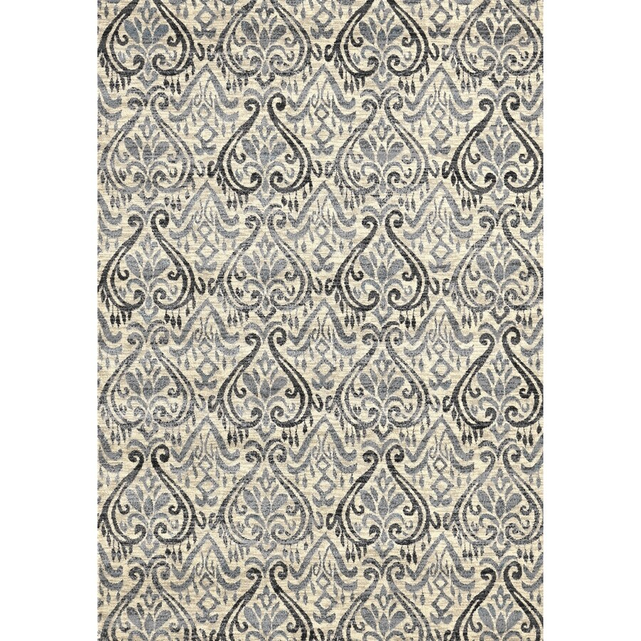 Concord Global Glam Ivory Rectangular Indoor Woven Nature Area Rug (Common: 3 x 5; Actual: 39-in W x 55-in L x 3.25-ft Dia)