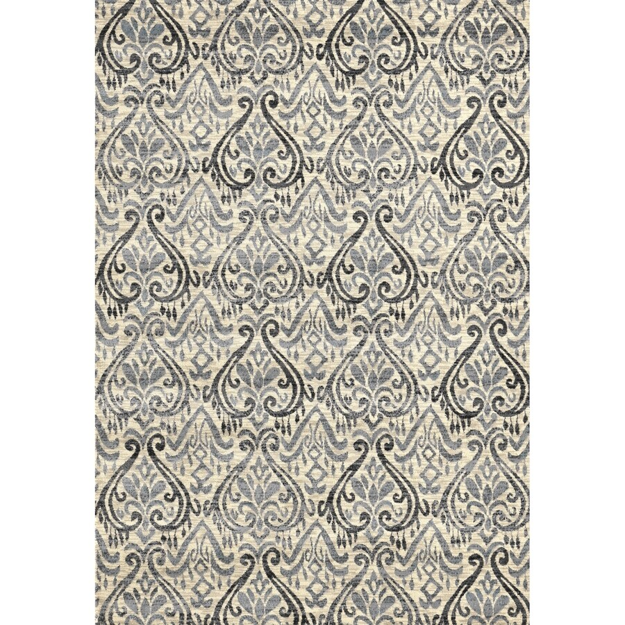 Concord Global Glam Ivory Rectangular Indoor Woven Nature Area Rug (Common: 8 x 11; Actual: 105-in W x 126-in L x 8.75-ft Dia)
