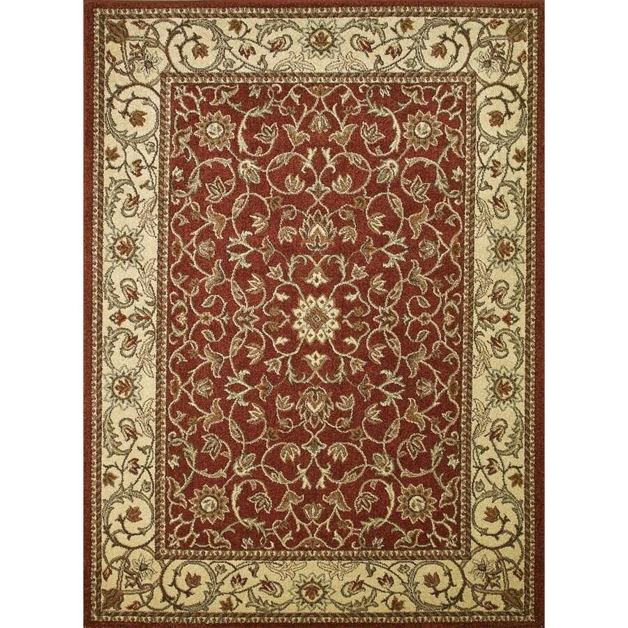 Concord Global Hampton Red Rectangular Indoor Woven Oriental Area Rug (Common: 3 x 5; Actual: 39-in W x 55-in L x 3.25-ft Dia)
