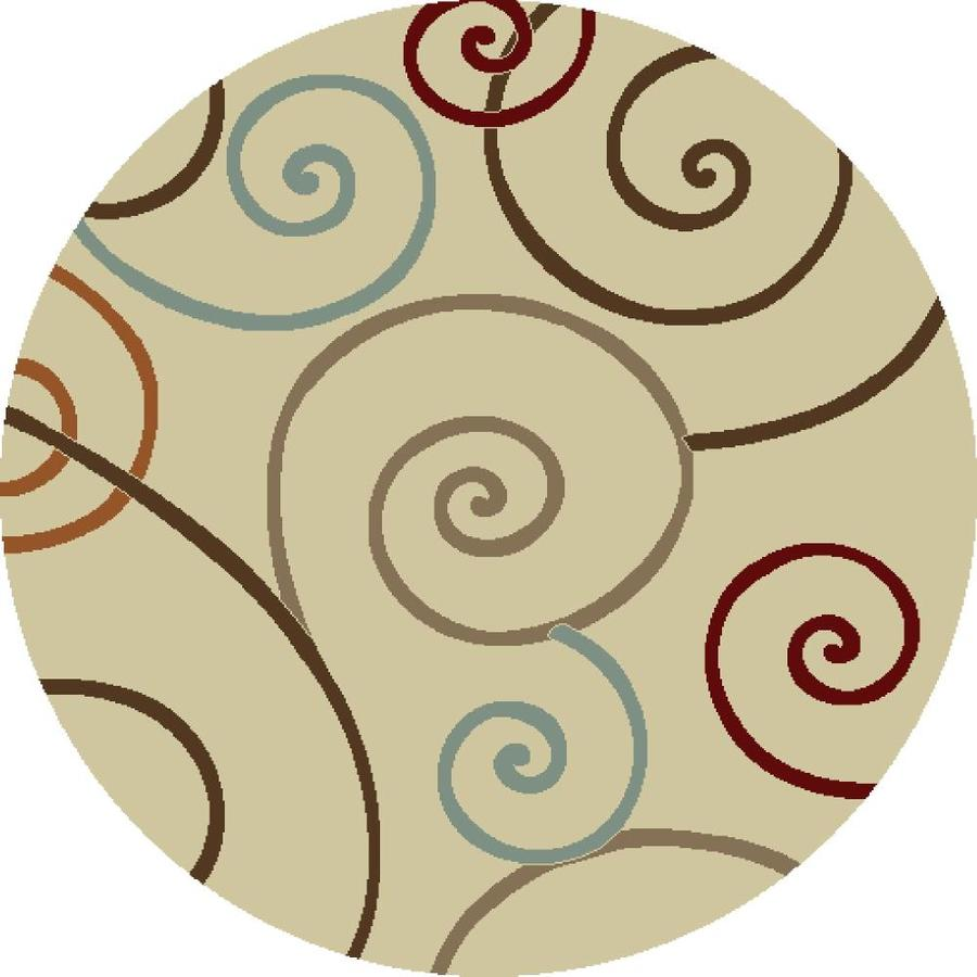 Concord Global Hampton Ivory Round Indoor Woven Area Rug (Common: 5 x 5; Actual: 63-in W x 63-in L x 5.25-ft Dia)