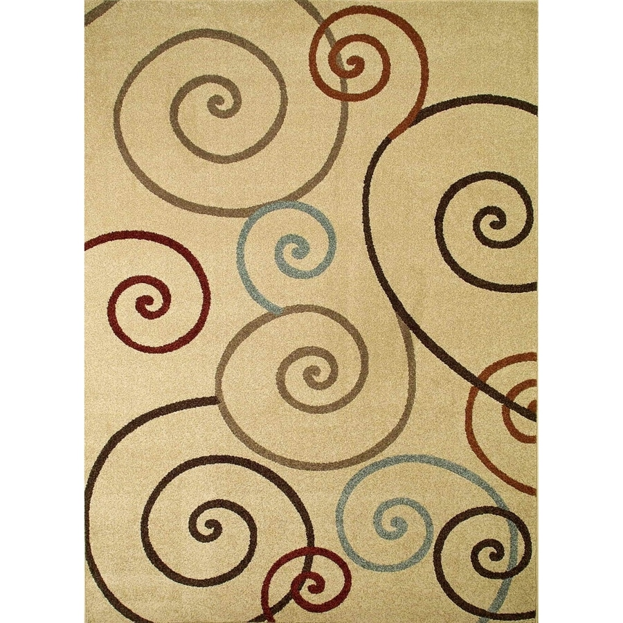 Concord Global Hampton Ivory Rectangular Indoor Woven Area Rug (Common: 3 x 5; Actual: 39-in W x 55-in L x 3.25-ft Dia)