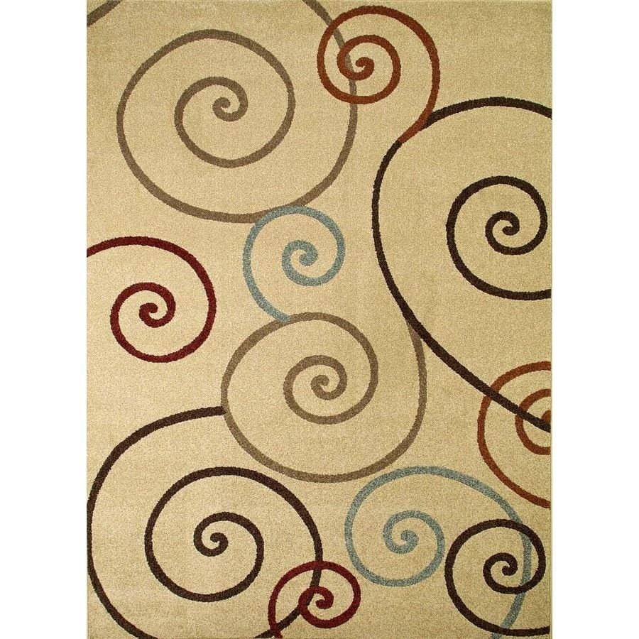 Concord Global Hampton Ivory Rectangular Indoor Woven Area Rug (Common: 8 x 11; Actual: 94-in W x 126-in L x 7.83-ft Dia)