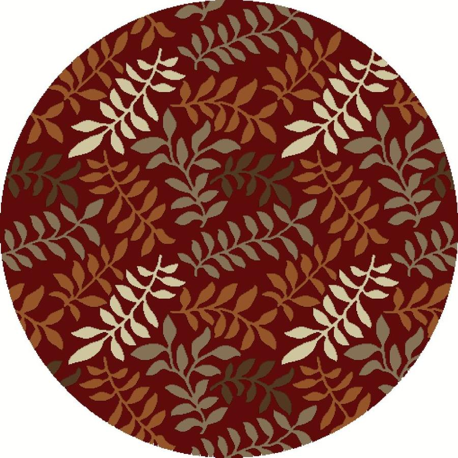 Concord Global Hampton Red Round Indoor Woven Area Rug (Common: 5 x 5; Actual: 63-in W x 63-in L x 5.25-ft Dia)