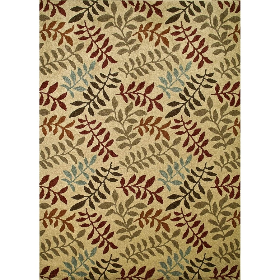 Concord Global Hampton Ivory Rectangular Indoor Woven Nature Area Rug (Common: 3 x 5; Actual: 39-in W x 55-in L x 3.25-ft Dia)