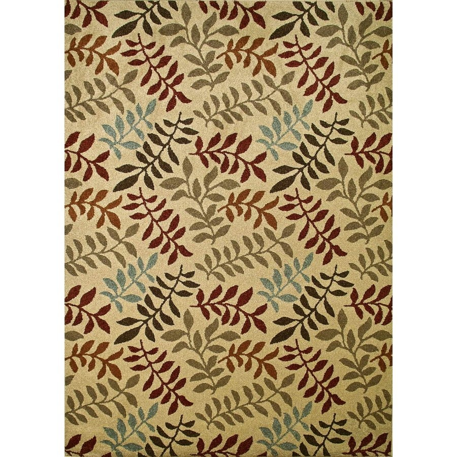 Concord Global Hampton Ivory Rectangular Indoor Woven Nature Area Rug (Common: 5 x 7; Actual: 63-in W x 87-in L x 5.25-ft Dia)