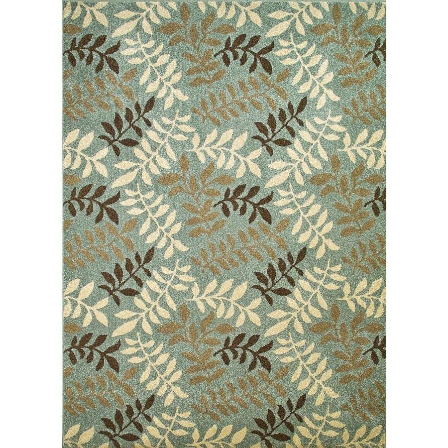 Concord Global Hampton Blue Rectangular Indoor Woven Nature Area Rug (Common: 5 x 7; Actual: 63-in W x 87-in L x 5.25-ft Dia)