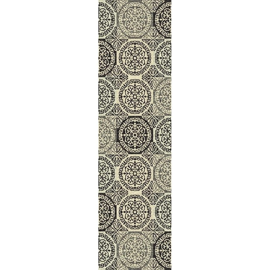 Style Selections Gabany Black Rectangular Indoor Woven Runner (Common: 2 x 7; Actual: 23-in W x 87-in L x 1.92-ft Dia)