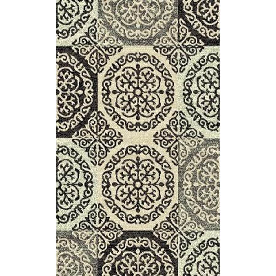 Style Selections Gabany Black Rectangular Indoor Woven Throw Rug (Common: 2 x 3; Actual: 23-in W x 39-in L x 1.92-ft Dia)
