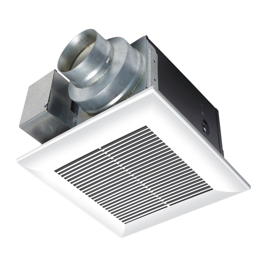 Shop panasonic 0 3 sones 110 cfm white bathroom fan energy - Ductless bathroom exhaust fan with light ...