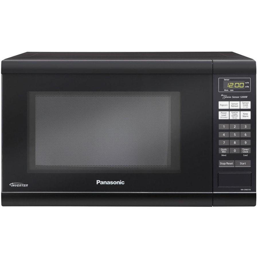 Shop Panasonic 1.2-cu ft 1,200-Watt Countertop Microwave (Black) at ...
