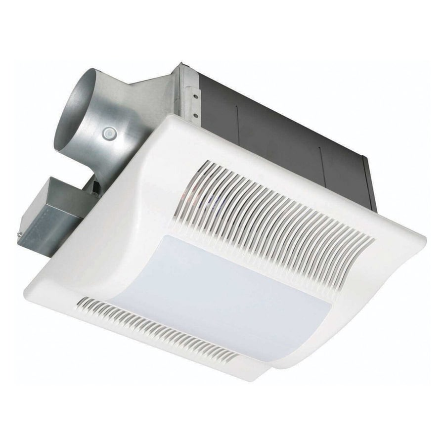 Shop Panasonic 0.5-Sone 80-CFM White Bathroom Fan With Light ENERGY STAR At Lowes.com