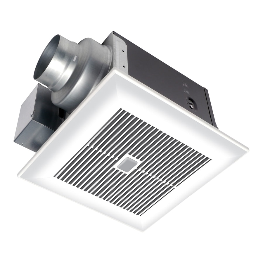 Shop Panasonic 0 3 Sone 80 Cfm White Bathroom Fan With Led Light Energy Star At