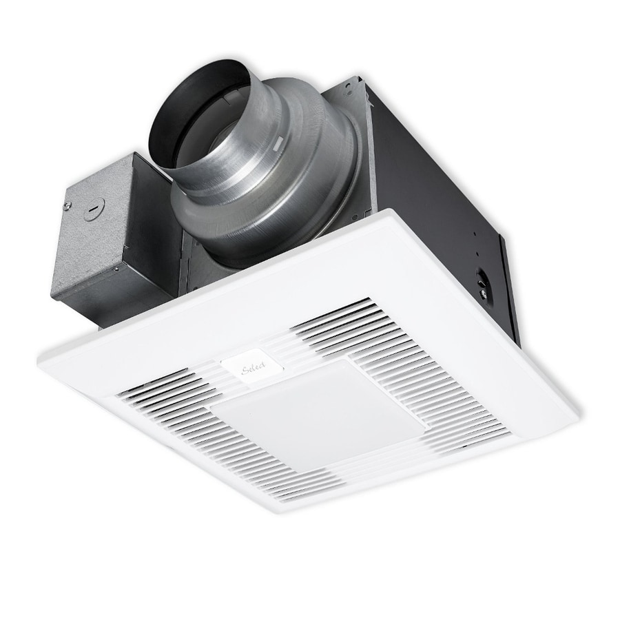 Shop Panasonic 0.4-Sone 110-CFM White Bathroom Fan With Light ENERGY STAR At Lowes.com