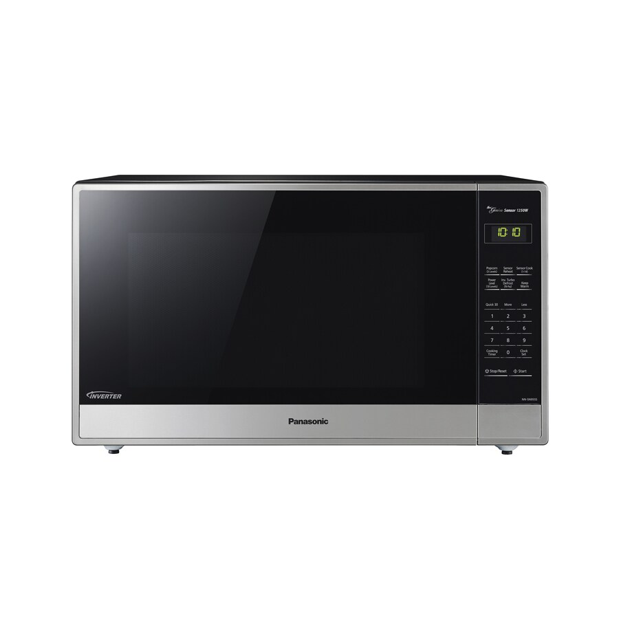 Countertop Microwave 2 Cu Ft : Shop Panasonic 2.2-cu ft 1250-Watt Countertop Microwave (Stainless ...
