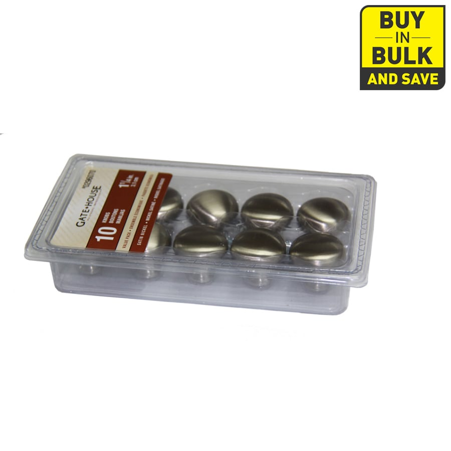 Style Selections 10-Pack Satin Nickel Round Cabinet Knobs