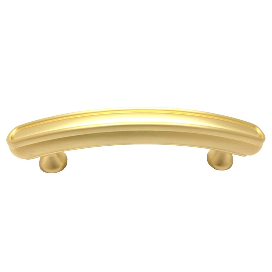 allen + roth 3-in Center-to-Center Satin Brass Bar Cabinet Pull