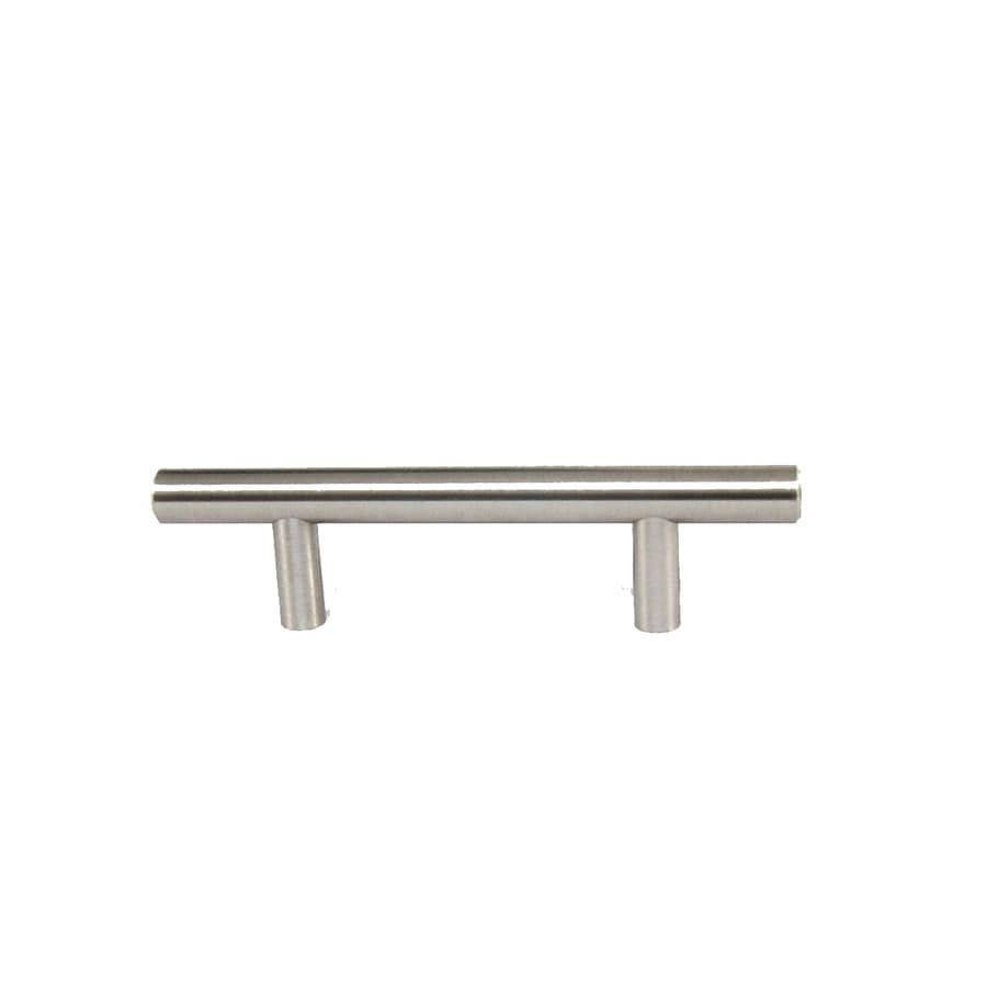 Style Selections 3-in Center-to-Center Brushed Satin Nickel Bar Cabinet Pull