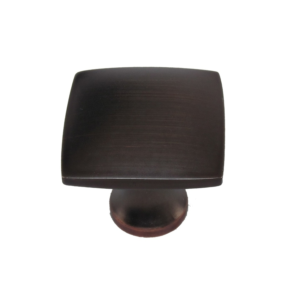 Shop allen roth aged bronze square cabinet knob at for Square kitchen cabinet knobs