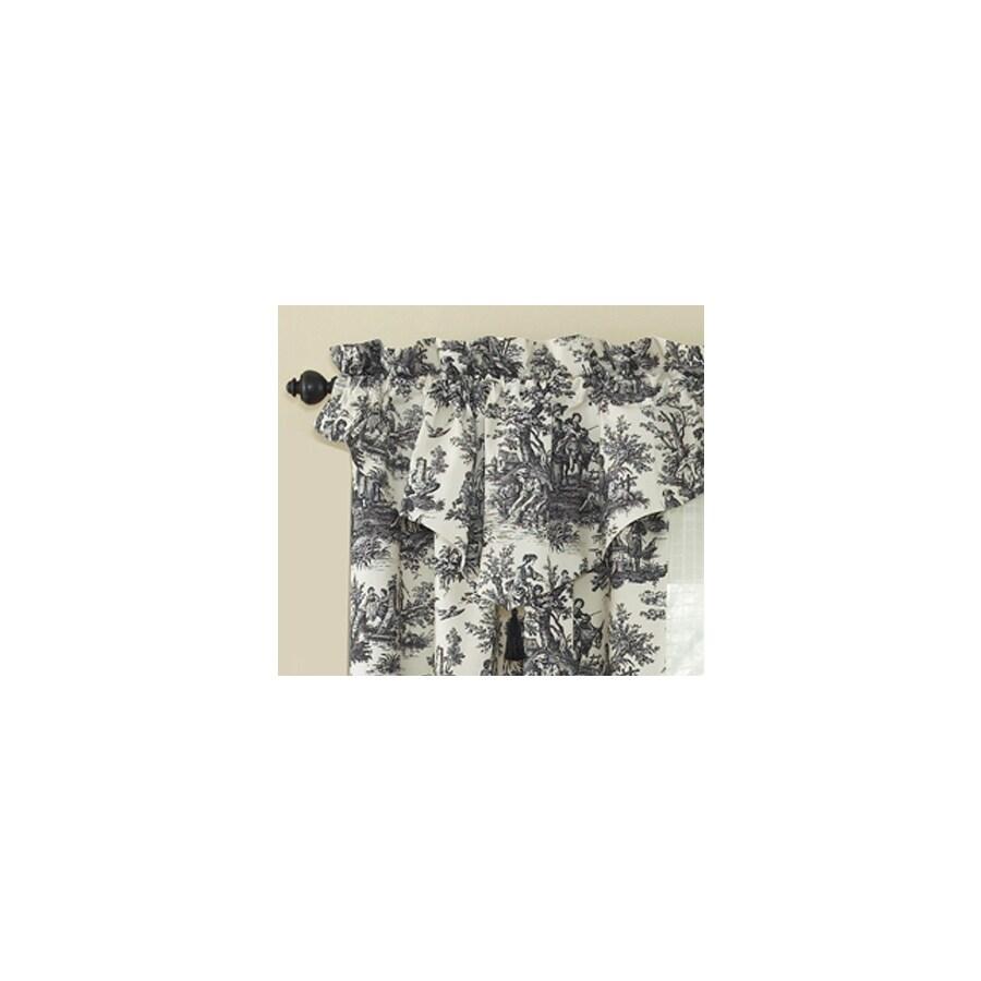 Waverly Home Classics 20-in Black Cotton Rod Pocket Valance