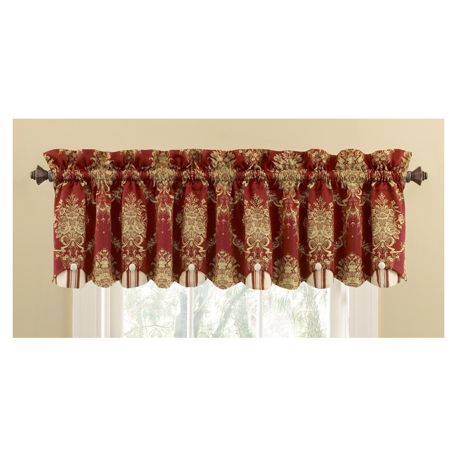 Waverly Home Classics 15-in Merlot Cotton Rod Pocket Valance