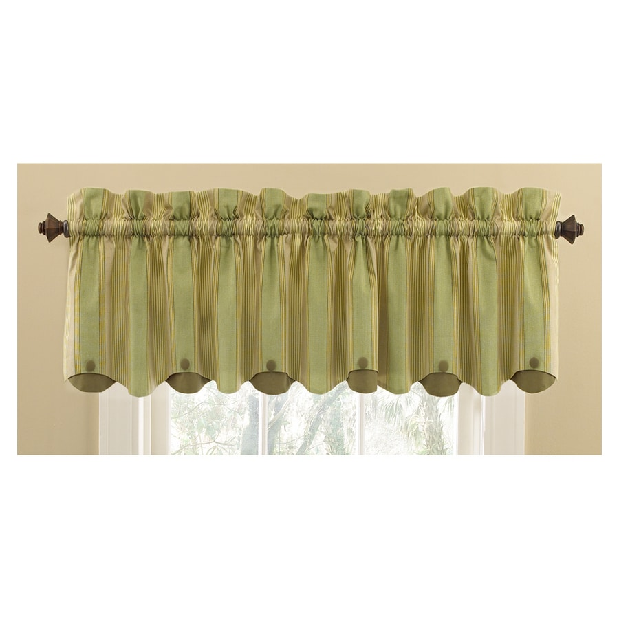 Shop Waverly Home Classics 15 In Sage Cotton Rod Pocket