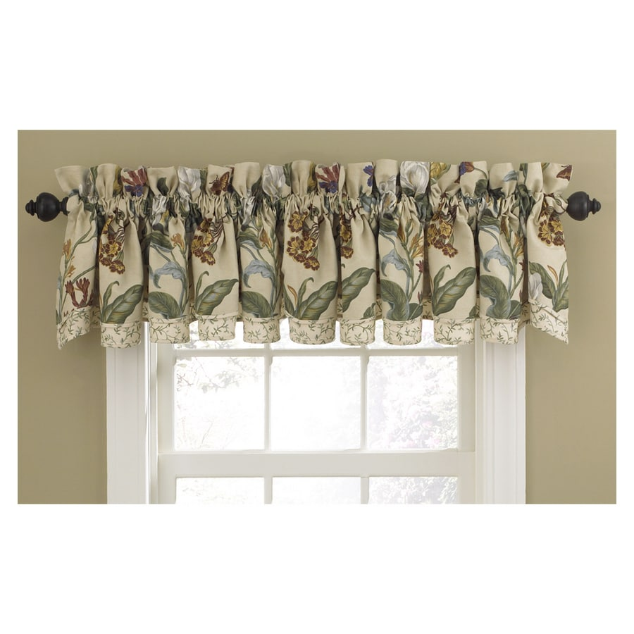 Shop Waverly Home Classics 14 In Parchment Cotton Rod Pocket Valance At
