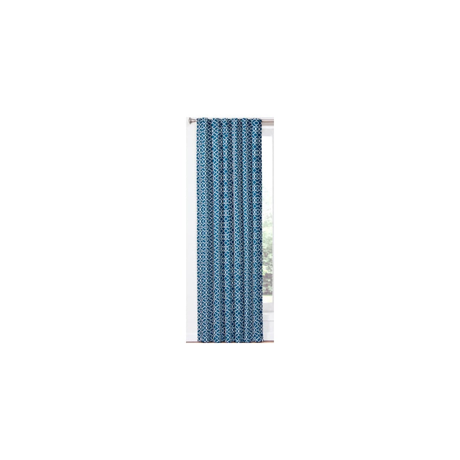 Waverly Waverly Home Classics 84-in Indigo Cotton Back Tab Single Curtain Panel