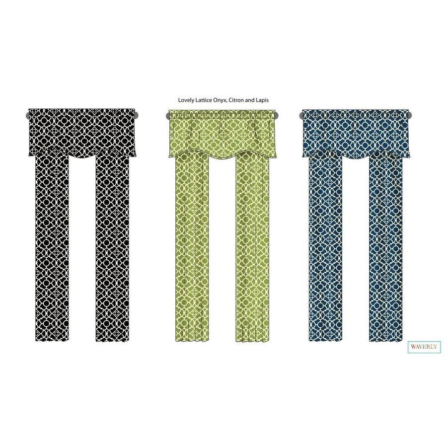 Waverly Waverly Home Classics 16-in Indigo Cotton Back Tab Valance