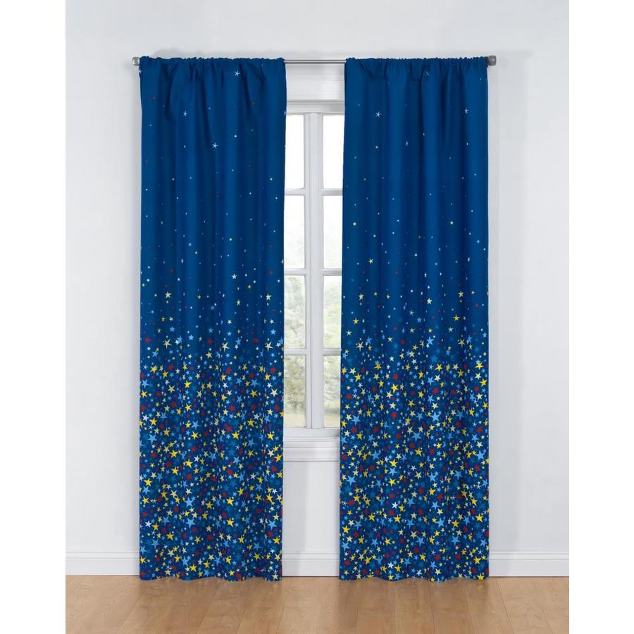 glow Glow 84-in Multi Polyester Rod Pocket Single Curtain Panel