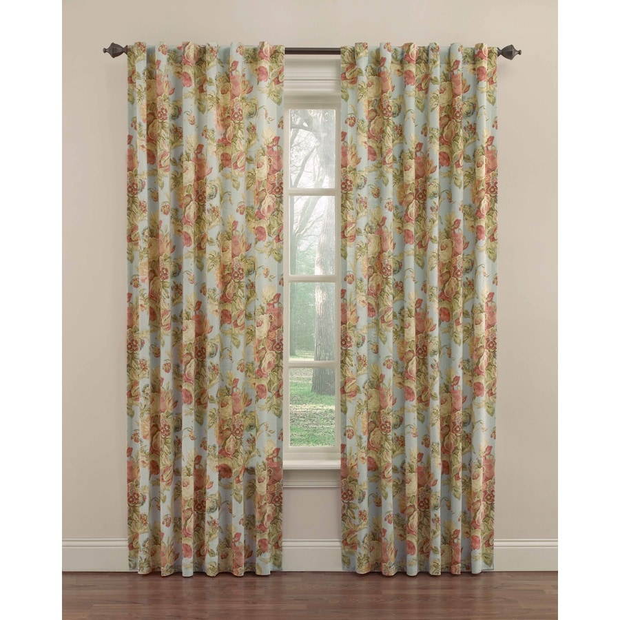Shop Waverly 84 in Vapor Cotton Back Tab Single Curtain Panel At Lowescom