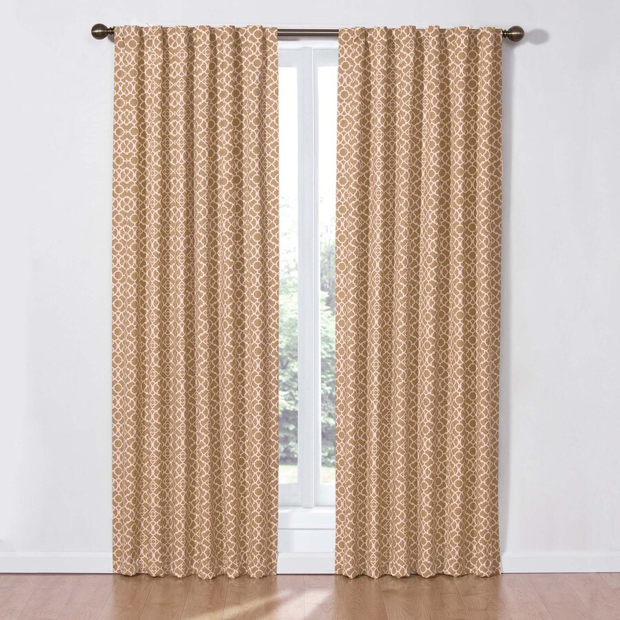 Waverly 84-in Cafe Cotton Back Tab Light Filtering Single Curtain Panel
