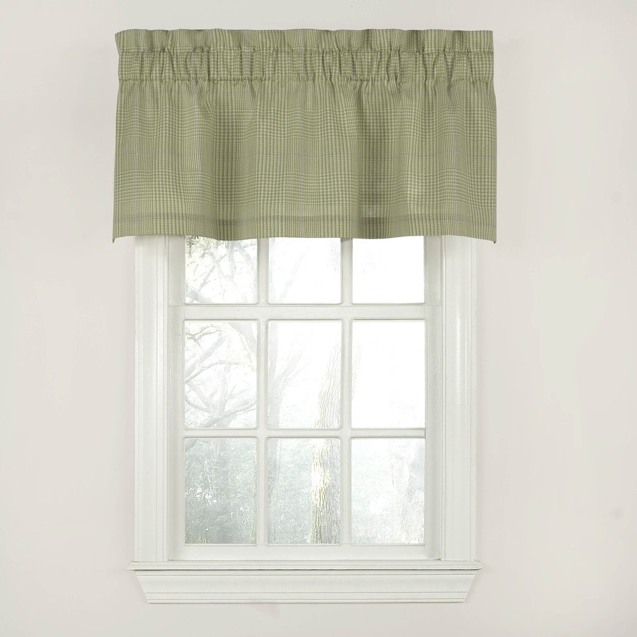 Waverly Grantham Plaid 18-in Green Cotton Rod Pocket Valance