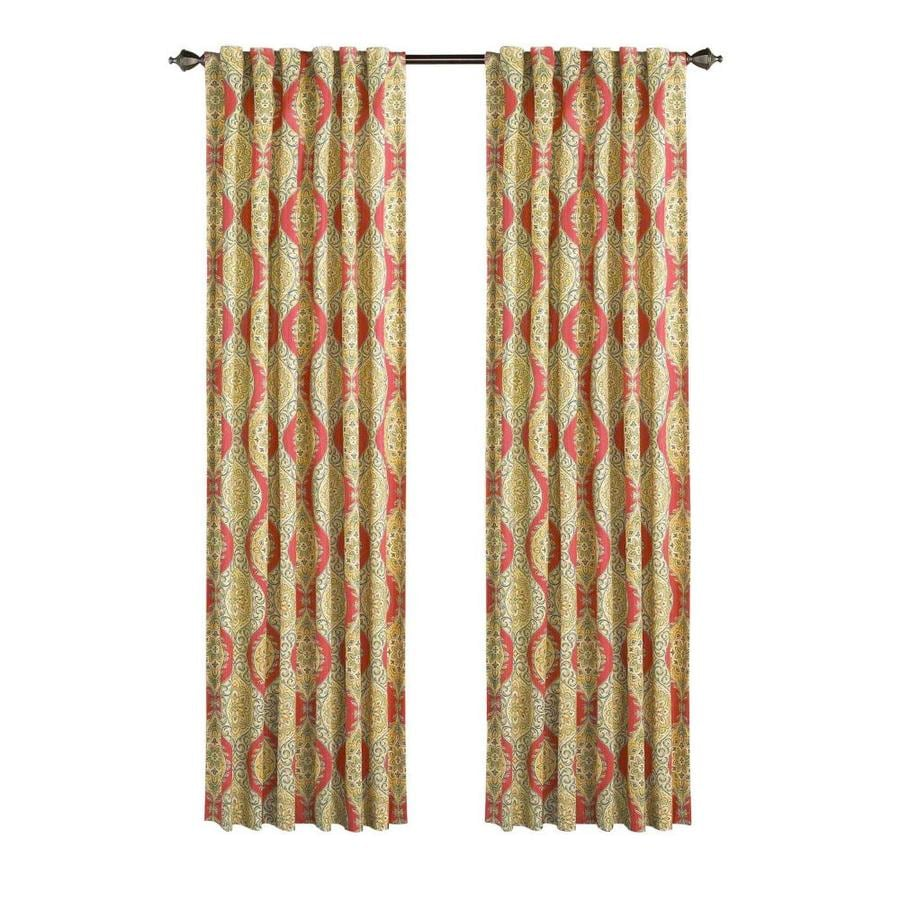 Waverly Moonlight Medallion 84-in Golden Back Tab Single Curtain Panel