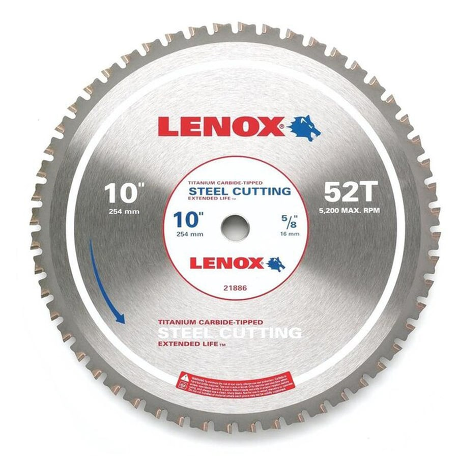 LENOX 10-in 52-Tooth Continuous Carbide Circular Saw Blade