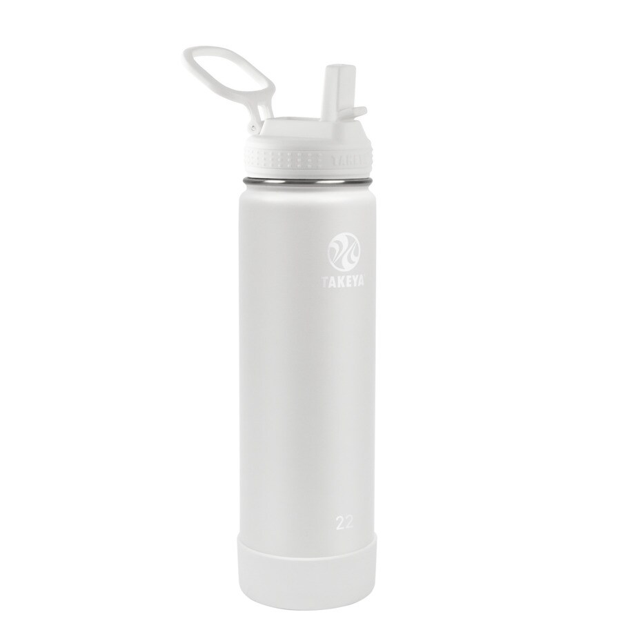 Teal 22 Ounce Takeya Actives Insulated Water Bottle w//Straw Lid