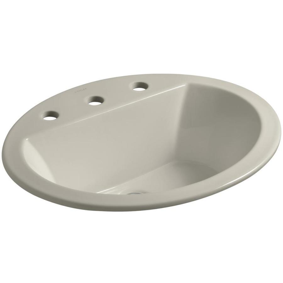 KOHLER Bryant Sandbar Drop-in Oval Bathroom Sink with Overflow