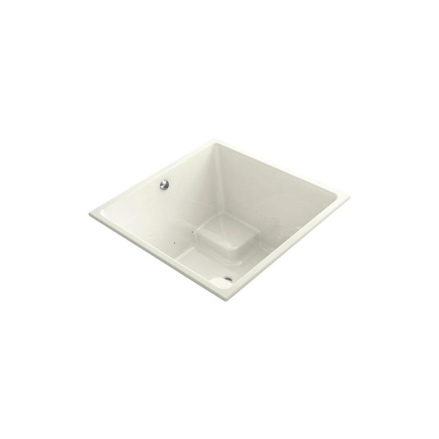 KOHLER Underscore 66-in L x 32-in W x 22-in H Biscuit Acrylic Rectangular Drop-in Air Bath