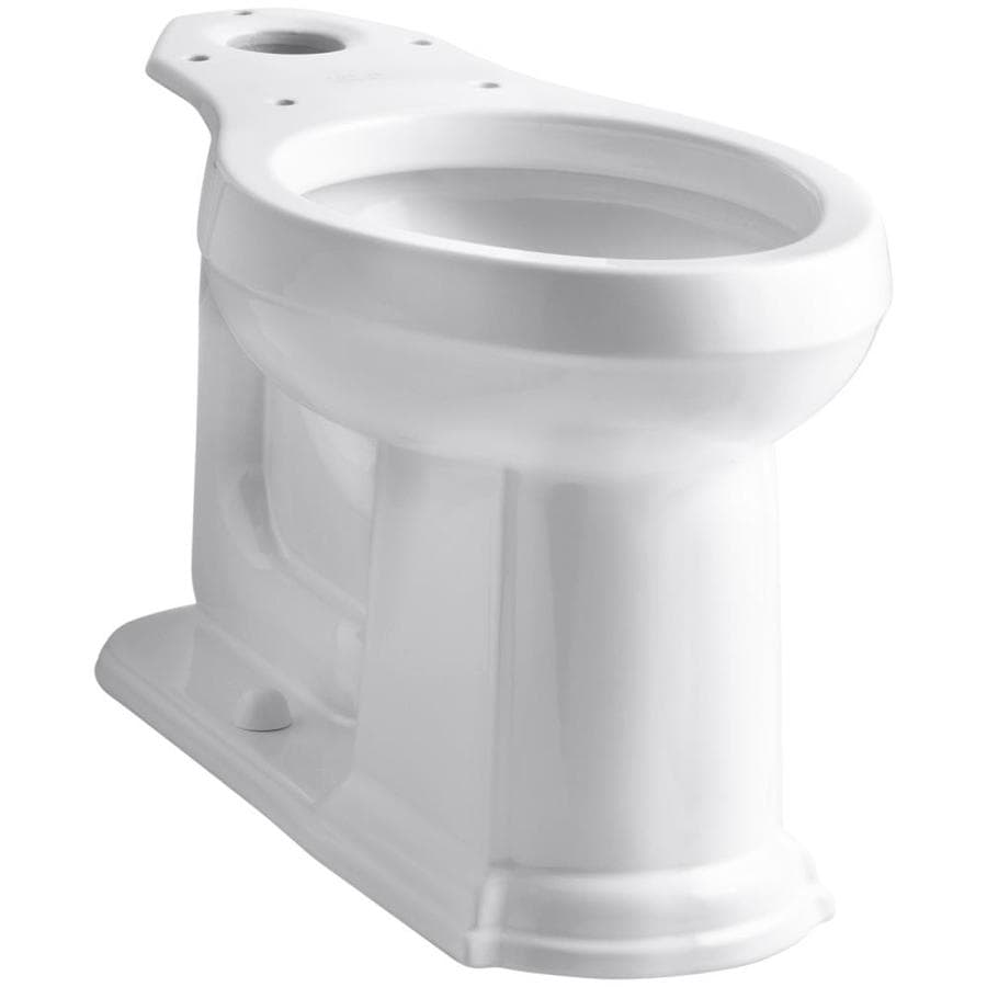 KOHLER Devonshire Chair Height White 12-in Rough-In Elongated Toilet Bowl