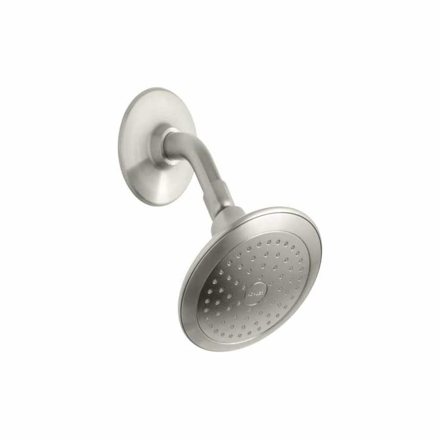 KOHLER Alteo 5.6875-in 2.5-GPM (9.5-LPM) Vibrant Brushed Nickel 1-Spray WaterSense Showerhead