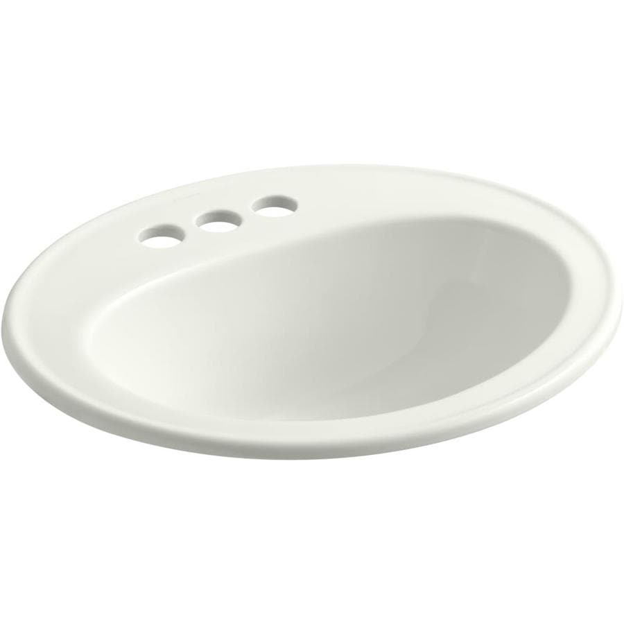 KOHLER Pennington Dune Drop-in Oval Bathroom Sink with Overflow