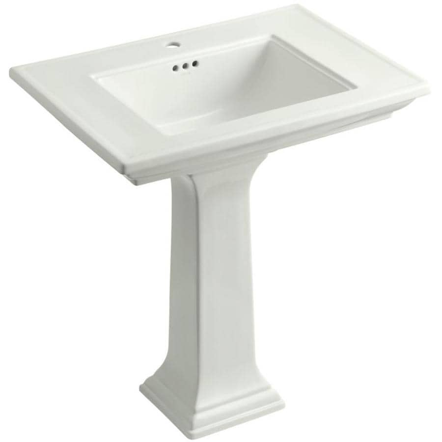 Memoirs Kohler Sink : Shop KOHLER Memoirs 34.75-in H Dune Fire Clay Pedestal Sink at Lowes ...